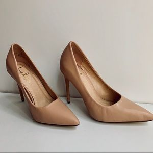 Lulus Blush Nude Heels 6 Party Work